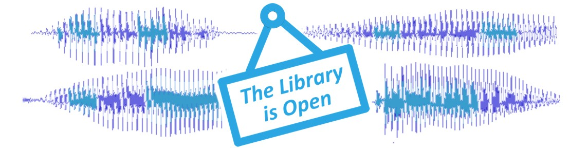 The Library is Open Podcast logo
