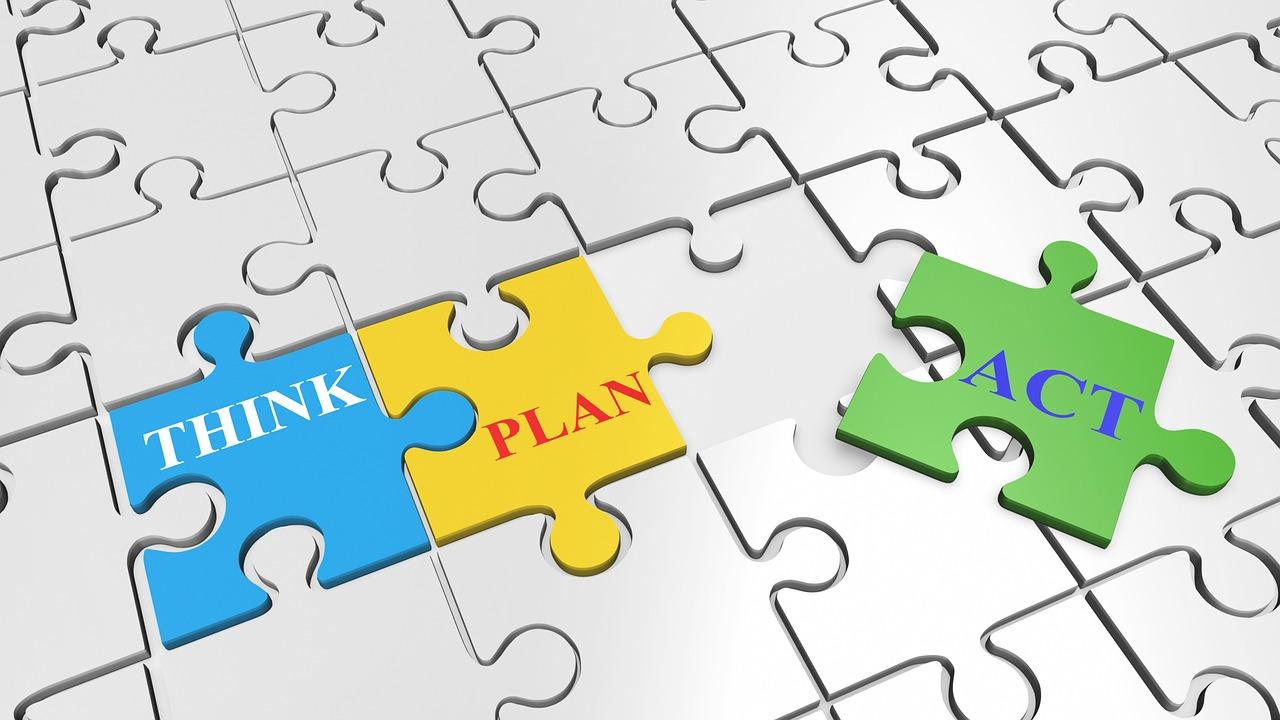 stock photo: think, plan, act