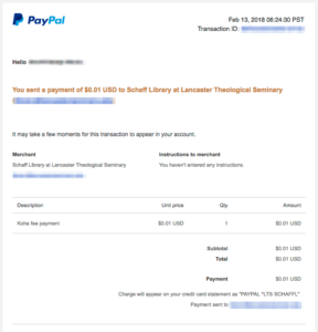 Koha's PayPal Integration: Implementation in a Small Library