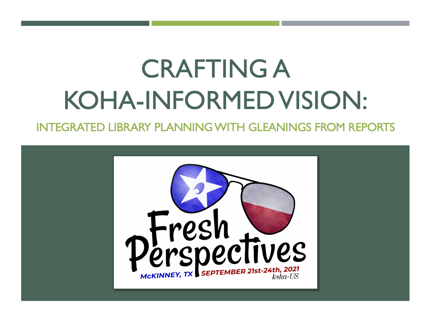 Crafting a Koha-Informed Vision: Integrated Library Planning with Gleanings from Reports